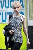 Jessica Stam modèle assiste à la beauté extrême en partie de Vogue Images stock