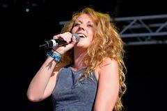Jessica Swetman exécute au festival de BOBARD Photo libre de droits