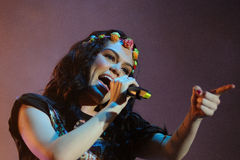 Jessie J performs at FIB Royalty Free Stock Photos
