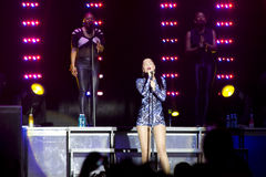 Jessie J`s concert stock photography
