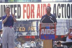 Jessie Jackson speaking at AIDS rally Stock Photos