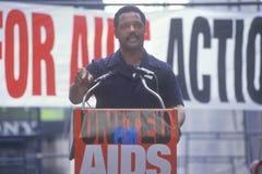 Jessie Jackson speaking at AIDS rally, New York City, New York Stock Photo