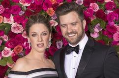 Jessie Mueller and Andrew Truschinski at 2018 Tony Awards Royalty Free Stock Photos