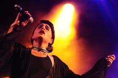 Jessie Ware, a British singer-songwriter, performs at Heineken Primavera Sound 2013 Festival Royalty Free Stock Photos