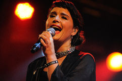 Jessie Ware, a British singer-songwriter, performs at Heineken Primavera Sound 2013 Festival Royalty Free Stock Photos