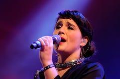 Jessie Ware, a British singer-songwriter, performs at Heineken Primavera Sound 2013 Festival Stock Image