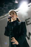 Jessie Ware concert in Moscow Royalty Free Stock Images