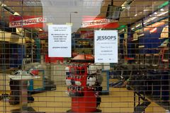Jessops camera store closed down on High Street Putney in London Stock Image