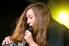 Jessy Lanza (Canadian electronic songwriter, producer and vocalist from Hamilton, Ontario) performance Stock Photos
