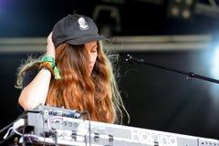 Jessy Lanza (cantautore, produttore, vocalist e deejay elettronici canadesi) Fotografia Stock Libera da Diritti