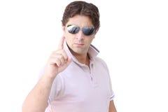 Jest Carefull Gniewny mężczyzna - Oskarżycielski mężczyzna - Obrazy Stock