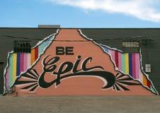 Jest Epickim malowidłem ściennym Chris Bingham, Dallas projekta okręg obraz royalty free