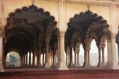 jest - Hall Jawna widownia w Agra forcie, Uttar Pradesh Fotografia Stock