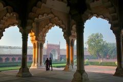 jest - Hall Jawna widownia w Agra forcie, Uttar Pradesh Zdjęcie Royalty Free