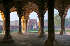 jest - Hall Jawna widownia w Agra forcie, Uttar Pradesh Zdjęcia Royalty Free