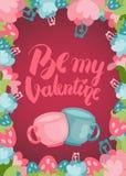Jest mój valentine ładnym pocztówką Zdjęcia Royalty Free