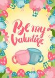 Jest mój valentine ładnym pocztówką Obrazy Royalty Free
