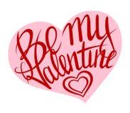 Jest mój valentine czerwienią na menchiach Zdjęcia Royalty Free