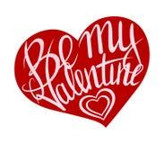 Jest mój valentine menchiami na czerwieni Obrazy Royalty Free