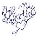 Jest mój valentine piórem Zdjęcie Royalty Free