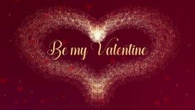 Jest m?j Valentite mi?o?ci wyznaniem Walentynka dnia serce robi? czerwonego wina plu?ni?cie pojawia? si? Wtedy jest serce ilustracja wektor