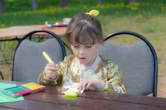 jest małej dziewczynki Obrazy Royalty Free