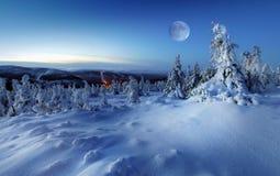 jest może target1583_0_ ilustraci krajobrazowa noc używać zima twój Fotografia Stock