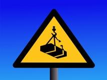 jest ostrzeżenie zasięrzutnego crane Obrazy Stock