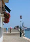 jest podłączona do Wenecji Obraz Royalty Free