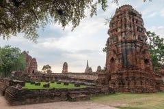 Jest pospolitym krótkim imieniem kilka znacząco Buddyjski templ Wat Mahathat świątynia Wielka relikwia Wielki relikwiarz lub świą Zdjęcie Stock