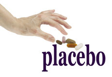 Jest real lub Placebo ja obraz royalty free