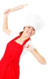 Jest szef kuchni w kuchni tam? Zdjęcia Royalty Free