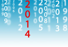 2014 jest tutaj Obrazy Stock