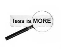 Less jest więcej Obrazy Royalty Free