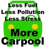 Less jest więcej carpool Obrazy Stock