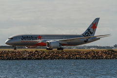 Jestar Airlines Boeing 787 Dreamliner on runway Royalty Free Stock Photography