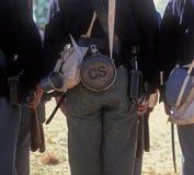 jesteś enactor konfederacyjnego żołnierz. Obraz Stock