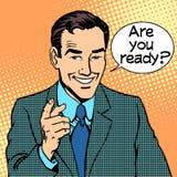 Jesteś przygotowywający biznesmen ty mówisz ilustracji