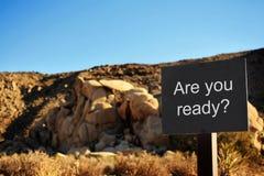 Jesteś ty przygotowywający? Fotografia Royalty Free