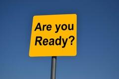 Jesteś ty Przygotowywający? Zdjęcie Stock