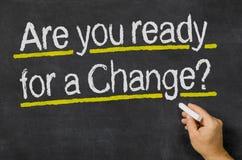 Jesteś ty przygotowywający dla zmiany Obrazy Stock