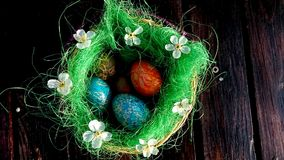 Jesteś ty przygotowywający z Wielkanocną dekoracją? Obrazy Royalty Free