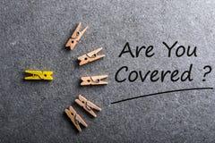 Jesteś Ty Zakrywałeś Samochód, podróż, dom, zdrowie lub inny obligacyjnego ubezpieczenia pojęcie, Obraz Royalty Free