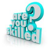 Jesteś Wykwalifikowanego słowa pytania Stażowe zdolność Ty Obraz Royalty Free