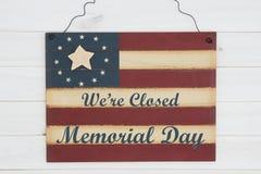 Jesteśmy zamykającym Memorial Day wiadomością obrazy royalty free