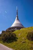 Jested lookout tower. Liberec, Czech Repiblic Royalty Free Stock Image