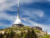 Jested lookout tower, Liberec, Czech Republic Royalty Free Stock Image