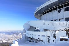 Jested in winter. Czech Republic - Liberec - transmitter Jested in winter Stock Photography