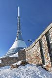 Jested in winter. Czech Republic - Liberec - transmitter Jested in winter Stock Photo