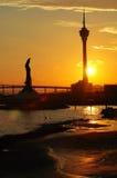 jestem konwencji martens Macau posągów wieży Obraz Royalty Free